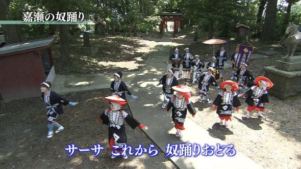 02.津軽鉄道と嘉瀬の奴踊り、リンゴの摘果